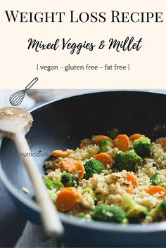 Easy & yummy #vegan #recipe that works for weight loss. No added fats like oil and low calorie. Quick and delicious as always with lots of millet and colorful veggies :)