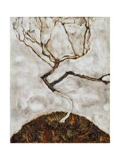 Giclee Print: Small Tree in Late Autumn, 1911 by Egon Schiele : Gustav Klimt, Egon Schiele Tattoo, Egon Schiele Landscape, Late Autumn, Frames For Canvas Paintings, Museum, Affordable Wall Art, Small Trees, Cool Posters