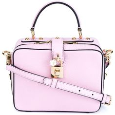 Dolce & Gabbana Lock Embellished Box Bag ($1,745) ❤ liked on Polyvore featuring bags, handbags, shoulder bags, pink cross body purse, dolce gabbana handbag, lock handbag, pink crossbody purse and embellished purses