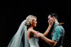 """The moment they saw each other they both broke down. I've seen many first looks, but nothing like this. I think we were all shedding tears by the end of it. Every time he looked at her he would tear up and say, ""I cannot wait to marry you. You are so beautiful."" - Addison Jones Photography"