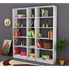 Comfy Home Işık Kitaplık Takımı - Beyaz