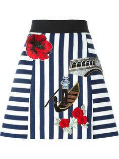Dolce & Gabbana Venice embroidery skirt