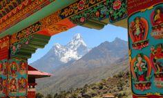 Ama Dablam, Tengboche Monastery, Nepal