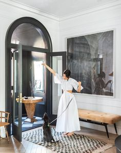 Design Entrée, House Design, Steel Frame Doors, Venetian Plaster Walls, Home Luxury, Brooklyn Brownstone, Appartement Design, Home And Deco, Home Staging