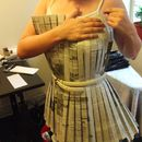 Step 10: Fitting the Bodice - sewing a newspaper dress