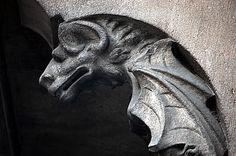 Barcelona Bat Gardoyle Grotesque