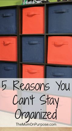 Do you feel like you can't stay organized after trying and failing over and over again? Here are 5 reasons you may be struggling and how you can fix it.