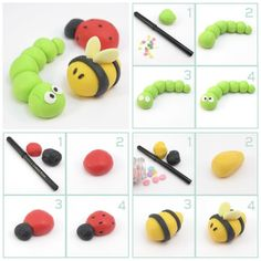 Caterpillar, Ladybug, and Bee Topper Tutorials - For all your cake decorating supplies, please visit craftcompany.co.uk