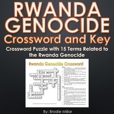 Rwanda Genocide - Crossword Puzzle and Key  sc 1 st  Pinterest & Age of Exploration - Crossword Puzzle and Key (23 Terms and Clues ... 25forcollege.com