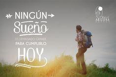 Ningún sueño es demasiado grande para cumplirlo hoy!! Feliz Inicio de semana #cucuta #colombia #Frasemotivadora  www.hotelarizonasuites.com