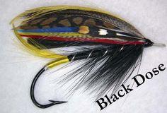 Black Dose Classic Salmon Fly Size 4/0 CS6 Gut Eye