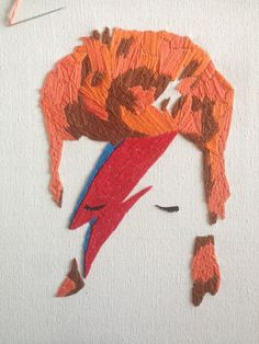 David Bowie Embroidery Picture: almost finished