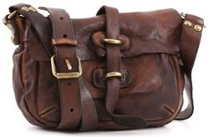 Campomaggi Lavata Shoulder Bag Leather cognac 23 cm - C1258VL-1702 - Designer Bags Shop - wardow.com