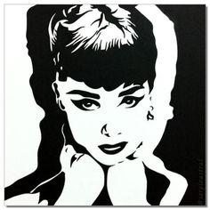 Audrey Hepburn quadro pop arte - R$450.00