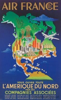 Love these old Vintage Airline Posters. Wish I could decorate my whole house with these!