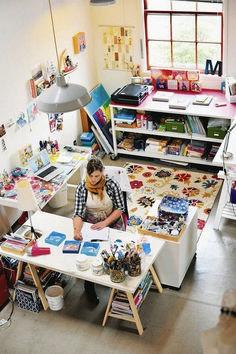 My dream studio space - art studio Home Art Studios, Studios D'art, Art Studio At Home, Craft Studios, Art Studio Spaces, Artist Studios, Art Studio Room, Art Studio Decor, Studio Studio