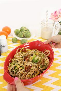 Bacon & Brussels Sprouts Potato Noodle Casserole   Recipe   Potato ...