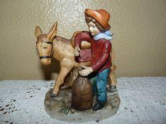 Vintage Norleans Porcelain Boy and Mule Figurine - SOLD