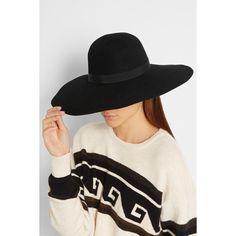 774a6276916 Maison Michel Blanche wide-brim rabbit-felt hat (£370) via Polyvore