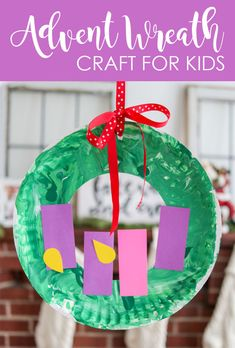 Paper Plate Advent Wreath Craft for Children and Toddlers