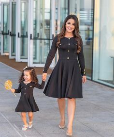 s Clothing Children' Mommy Daughter Dresses, Mom And Daughter Matching, Mother Daughter Fashion, Frocks For Girls, Girls Dresses, Family Outfits, Kids Outfits, New Dress Design Indian, Fashion Wear