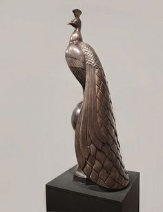 Gaston Lachaise (1882–1935) Peacock, 1920 Bronze 57 x 18 x 19 inches Gerald Peters Gallery
