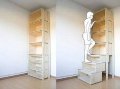 On the internet, nobody knows you're a dog or a short person, but I am. That's why I love Danny Kuo's stairCASE. The designer writes: