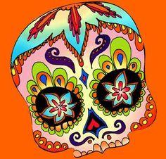 Dia de los muertos mask...inspiration for a nice tat...<3 Tracy
