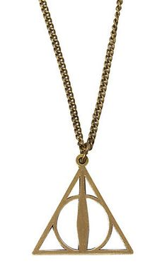 Wishlist - Harry Potter Deathly Hallows Necklace (From Hot Topic)