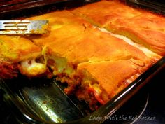 Pizza Casserole - pick your favorite toppings and sauce and just top with crescent roll dough