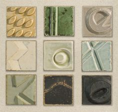 """Desert Canyon Quilt Wall Tiles""  Ceramic Wall Art by W. Mitch Yung"