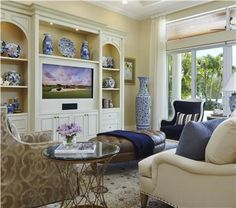 How beautifully lilac and blue/purple make the blue Chinese/Japanese china work  by Jacquelyn Armour  http://www.homeportfolio.com/Designers/Room/30541/classic-transitional