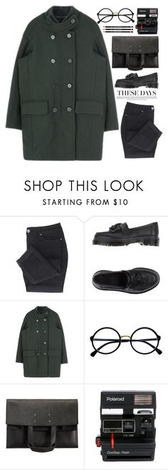 """No one asks me for dances because I only know how to flail"" by annaclaraalvez ❤ liked on Polyvore featuring Dr. Martens, Retrò, Maison Margiela and Polaroid"