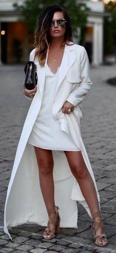 beautiful white outfit idea