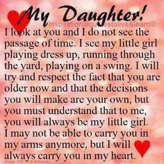 beautiful daughter quote! #teen #teenage #comingofage