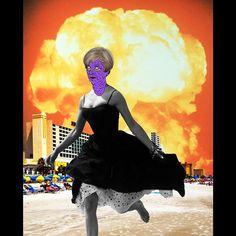 The Darling Bombs of May aka Come to Britain it's Bracing (Bravespear_16_12_17)  #artistsoninstagram #art #collage #uk #theresamay #politics #satire #explosion