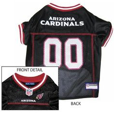 Arizona Cardinals NFL Dog Jersey - Large  15% Discount - Use code DOGGIE at Checkout   http://www.gingersdoggieheaven.com #ArizonaCardinals 15% Discount - Use code DOGGIE at Checkout