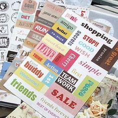 Postmark Word Scrapbooking Decorate Stickers (6PCS) – USD $ 2.09