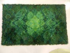 Handknuten ryamatta i yllegarn i vackra gröna toner. 145 ...
