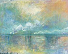 Claude Monet - Charing Cross Bridge, fumée dans le brouillard, impression