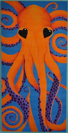 """""""I wish I was an octopus so I had more arms to hug you with."""" Acrylic 24x48 Acrylic     Shower curtains, duvet covers, jewelry boxes and much more available on Deny Designs. http://denydesigns.com/collections/mandy-hazell-all-art"""
