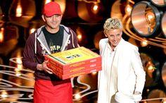 Oscars 2014: Pizza guy gets a hefty tip on 'The Ellen DeGeneres Show' — VIDEO | @Dani Tynan