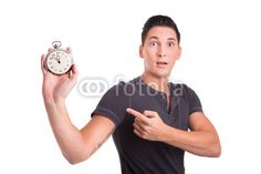 Young man is worried about approaching deadline. Time Is Money, Young Man, No Worries, Leather, Young Men, Money, Guys, Youth