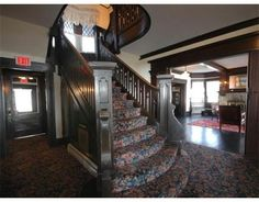 Luxury Homes, Estates & Properties Historic New England, New England Homes, Foyer, Entryway, My Dream Home, Luxury Homes, Stairs, Decorating Ideas, Home Decor