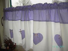 Gardinen - Gardine Scheibengardine Lavendel - ein Designerstück von schmetterling06 bei DaWanda