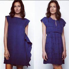 Il blu inchiostro by #laFABBRICAdelLINO. L'abito drappeggiato oppure l'abito con ricamo scozzese. Sempre 100% lino e 100% Made in Italy. #Bluinchiostro #100per100lino #MadeinItaly #Fashion #ItalianAttitude #PrimaveraEstate2016
