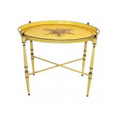 Italian Tole Painted Tray Table