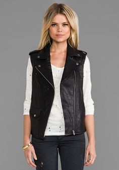 Classic Leather Vest yet so in trend