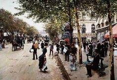 Жан Беро - парижская уличная сцена
