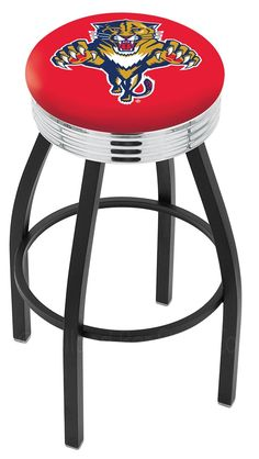 """Use this Exclusive coupon code: PINFIVE to receive an additional 5% off the Florida Panthers 2½"""" Ribbed Ring Bar Stool at SportsFansPlus.com"""